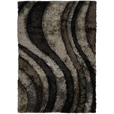 Chandra Flemish Black/Gray Area Rug; 7'9'' x 10'6''