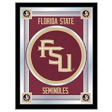 Holland Bar Stool NCAA Logo Mirror Framed Graphic Art; Florida State (Script)