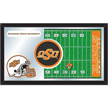Holland Bar Stool NCAA Football Mirror Framed Graphic Art; Oklahoma State