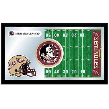 Holland Bar Stool NCAA Football Mirror Framed Graphic Art; Florida State