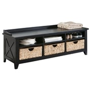 Liberty Furniture Wood Storage Entryway Bench; Black