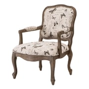 Madison Park Monroe Camel Back Wood Arm Chair