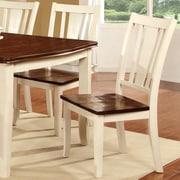 Hokku Designs Carolina Side Chair (Set of 2); Cream White / Cherry