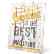 Click Wall Art Sunshine Is The Best Medicine Textual Art Plaque; 20'' H x 16'' W x 0.04'' D