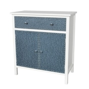 Gallerie Decor Ritz Cabinet; Cream / Silver
