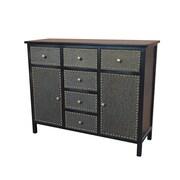 Gallerie Decor Ritz Cabinet; Espresso / Bronze