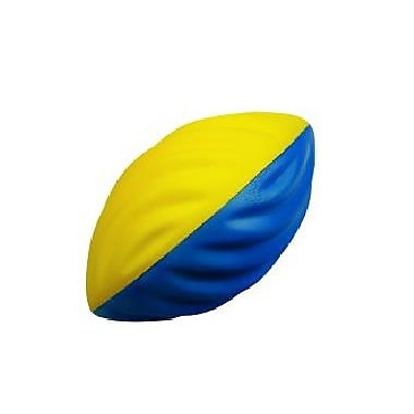 360 Athletics FF9 Nerf Foam Football, Size 7, Yellow/Blue