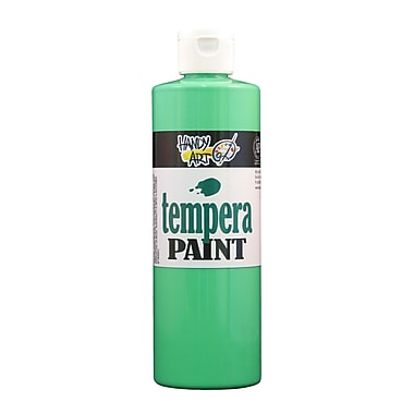 Handy Art 251-158 Tempera Paint Fluorescent, 16oz, Green, 12/Pack