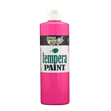 Handy Art 251-153 Tempera Paint Fluorescent, 16oz, 12/Pack
