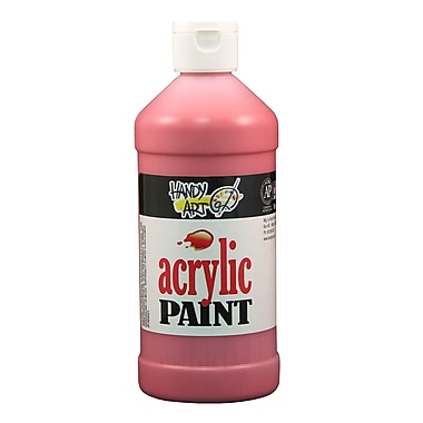 Handy Art 101-040 Acrylic Paint, 16oz, Red, 12/Pack