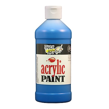 Handy Art 101-065 Acrylic Paint, 16oz, Ultramarine Blue, 12/Pack