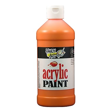 Handy Art 101-025 Acrylic Paint, 16oz, Orange, 12/Pack