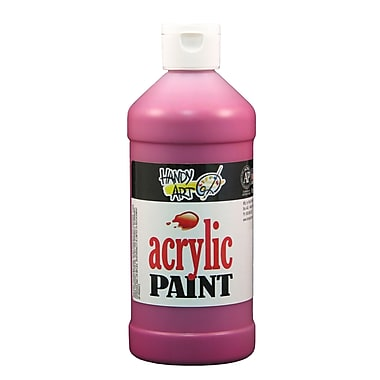 Handy Art 101-070 Acrylic Paint, 16oz, Magenta, 12/Pack