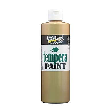 Handy Art 231-162 Tempera Paint Metallic, 16oz, Gold, 12/Pack