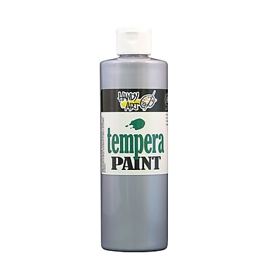 Handy Art 231-166 Tempera Paint Metallic, 16oz, Silver, 12/Pack