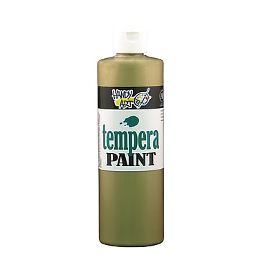 Handy Art 231-160 Tempera Paint Metallic, 16oz, Brass, 12/Pack