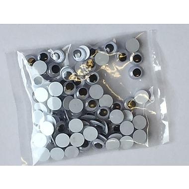 Rose 86-106-10 Wiggle Eyes, 15mm, Black, 100/Bag, 10 Bags/Pack