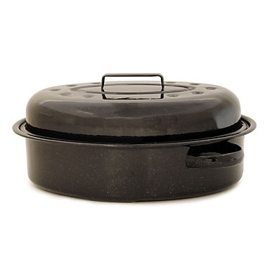 Bios Roaster Oval with Cover, Black, Medium