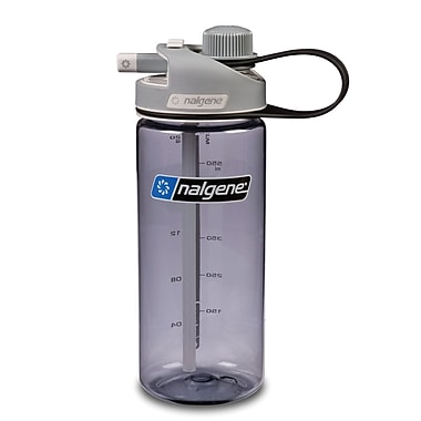 Nalgene Tritan Multidrink Water Bottle, 20oz, Grey with Grey Cap