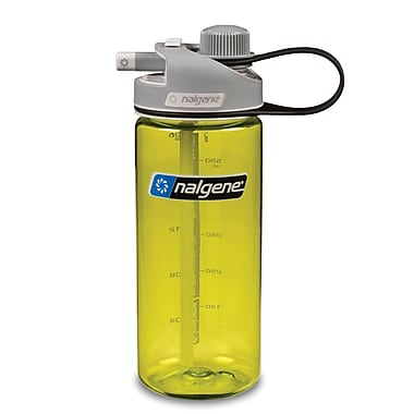 Nalgene Tritan Multidrink Water Bottle, 20oz, Green with Grey Cap