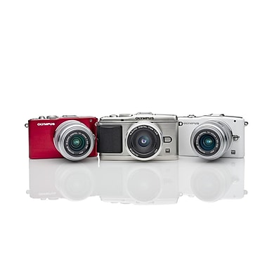 Olympus E-PL3 Pen Camera with 14-42mm IIR Silver Lens Kit, White