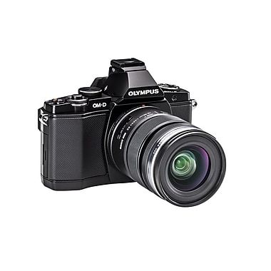Olympus OM-D E-M5 Mirrorless Camera with 12-50mm Black Lens Kit, Black
