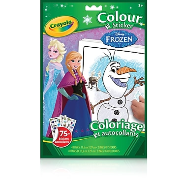 CrayolaMD – Cahier Color 'n Sticker, La reine des neiges de Disney