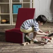 Jaxx Sugar Cube Modular Foam Kids Chair; Cherry