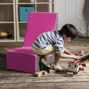 Jaxx Sugar Cube Modular Foam Kids Chair; Fuchsia