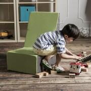 Jaxx Sugar Cube Modular Foam Kids Chair; Lime