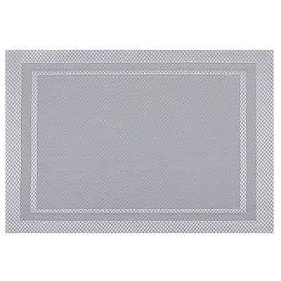 KAF Home Modern Placemat (Set of 4); Silver WYF078277807551