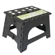 Range Kleen Folding 1-Step Plastic Step Stool with 300 lb Load Capacity; Black