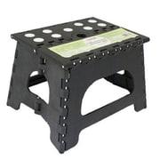 Range Kleen Folding 1-Step Plastic Step Stool with 300 lb Load Capacity; Black