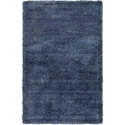 Unique Loom Luxe Solo Navy Blue Area Rug; 5' x 8'