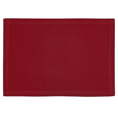 KAF Home Ribbed Placemat (Set of 4); Red WYF078277807671