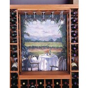 Wine Cellar Designer Series Hanging Wine Glass Rack; Midnight Black Stained Premium Redwood