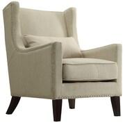 Kingstown Home Jeannette Wingback Arm Chair; Beige