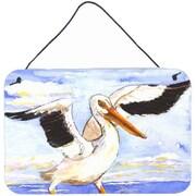 Caroline's Treasures Bird Pelican Aluminum Hanging Painting Print Plaque
