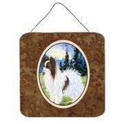 Caroline's Treasures Papillon Aluminum Hanging Painting Print Plaque