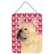 Caroline's Treasures French Bulldog Hearts Love and Valentine's Day Hanging Painting Print Plaque