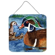 Caroline's Treasures Bird Wood Duck Aluminum Hanging Painting Print Plaque