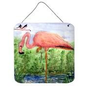Caroline's Treasures Bird Flamingo Aluminum Hanging Painting Print Plaque