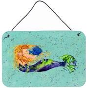 Caroline's Treasures Mermaid Aluminum Hanging Painting Print Plaque