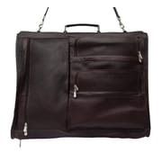 Piel Traveler Executive Expandable Garment Bag; Chocolate