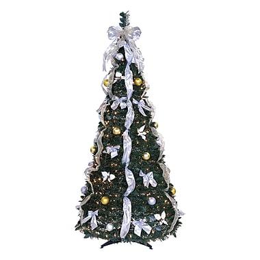 LB International 6' Artificial Christmas Tree w/ 350 Lights