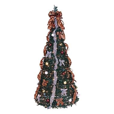 LB International Pop Up 6' Green Artificial Christmas Tree w/ 350 Lights