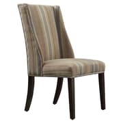 Kingstown Home Eris Striped Wingback Parsons Chair (Set of 2)