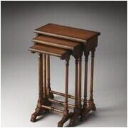 Butler Dunham 3 Piece Nesting Tables; Olive Ash Burl