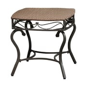 International Caravan Valencia Wicker Resin Patio Side Table; Antique Brown