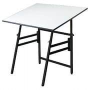 Alvin and Co. 48'' Rectangular Folding Table; Black